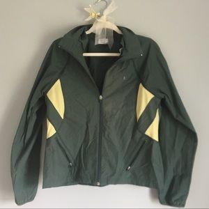 Danskin Now green windbreaker light jacket